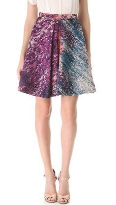 J. Mendel  Box Pleat Skirt