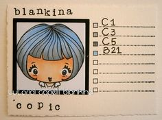 Blankina creations: Non traditional copic hair colour combos Copic Italia DT post