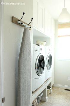 Hanging Ironing Board Rack