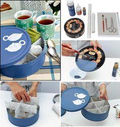Fuxiko´s. Reciclar caja de galletas metálica.