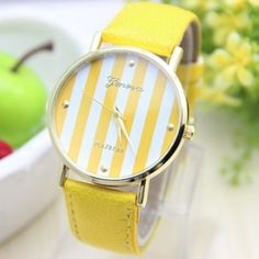 Stripes dial party woman watch. Get 15% off on this watch, only for Pinterest followers Coupon is - myfriendshop2005p