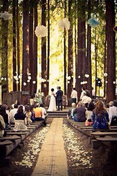 Love that woodsy venue