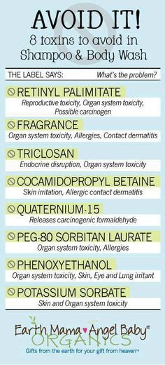 {toxins to avoid in shampoos & washes}