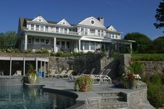 REmodeled House on the Ocean with Pool and Spa in Marblehead by Michael McCloskey Design Group