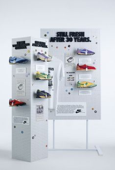 Instore bespoke pegboard display