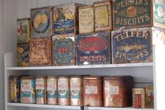 vintage tins...
