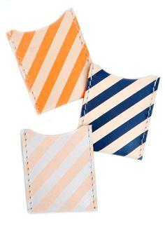 Striped Leather Card Case #splendideveryday