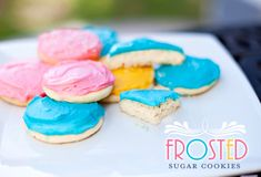 """Another pinned said: """"I'm not even that crazy about sugar cookies but I haven't been able to keep my hands off these. Still soft 3 days later! They were a hit with everyone! I used a different frosting recipe, which was also fantastic. Will definitely use again!"""" SG: I'm not crazy about the egg yolk in the frosting idea- may try a different recipe, too; but the cookie recipe looks good."""