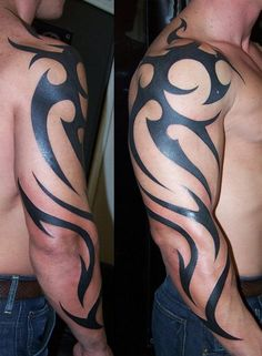 Tribal Arm Tattoo. This would look so good added to my bfs arm tat!!!