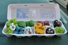 Angry BIrds craft and game/lol @moxiethrift on etsy Linebaugh, really....Give our boys sling shots and rocks????