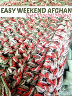 Free Crochet Pattern - Weekend Afghan ✿⊱╮Teresa Restegui http://www.pinterest.com/teretegui/✿⊱╮