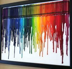 Melted crayon art.  Very cool.