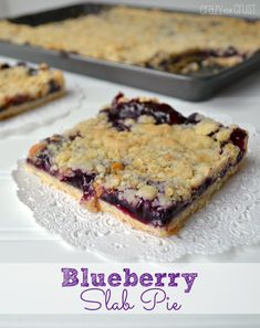 Blueberry Slab Pie | crazyforcrust.com | #pie #blueberry