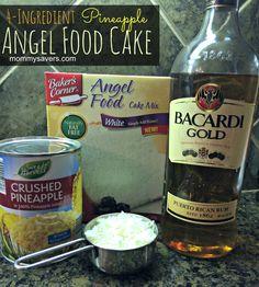 4-Ingredient Pineapple Angel Food Cake