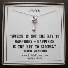 Cute! art inspir, vintage keys, skeleton keys, charms, grad quote success key, cute graduation quotes, quot card, gift idea, charm necklac