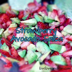 Strawberry avocado salsa #fitfluential