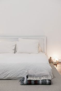 Bed on floor