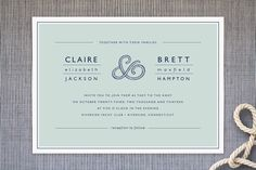 Rope Ampersand Wedding Invitations by Jill Means at minted.com