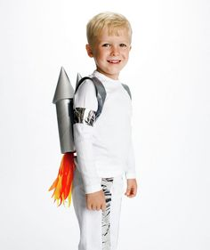 DIY rocketman costume - click through to see how to make it.