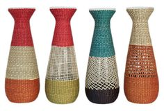 4 Assorted Seagrass Vases >> These are great, love the colors!