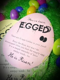 Free Printable: You've Been Egged (and empty is spelled correctly in the printable)