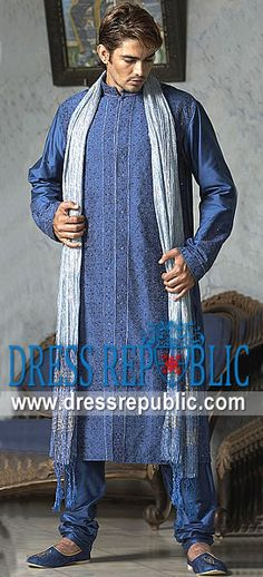 Style DRM1181, Product code: DRM1181, by www.dressrepublic.com - Keywords: Pakistani Mens Fashion on EID 2013, Pakistani Mens Fashion on Mehndi Occasion