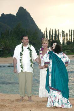 Our wedding day on Kepuhi Beach, Kauai