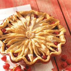 Cherry-Berry Streusel Pie Recipe from Taste of Home -- shared by Rosalie Seebeck of Bethany, Oklahoma
