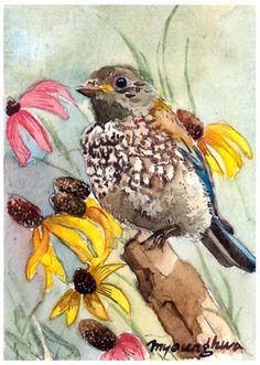 Small Bird Watercolor.