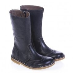 Bisgaard black leather boots.