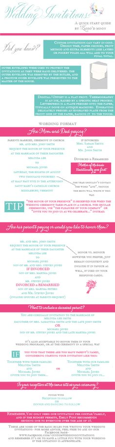 Wedding Invitation Quick Start Guide {Infographic}