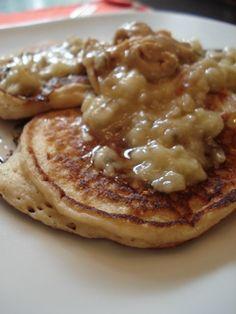 whole wheat yogurt pancakes - just made. super light and moist