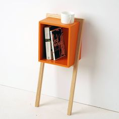 Great little side table and fun use of color! #table #sidetable #color #livingroom