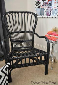 Office Nook  Inspiration Board (Rattan Chair via Ikea)