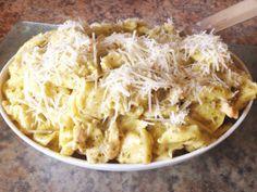 Three Cheese Tortellini with Chicken & Pesto - 7 Weight Watchers pp