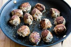 Kalyn's Kitchen®: Turkey Meatballs with Romano Cheese and Herbs (Phase One, Low-Carb, Gluten-Free)