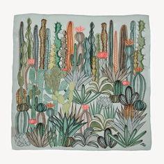 textile design, cactus print