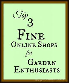 A quick look at a couple of great resources for gardeners.