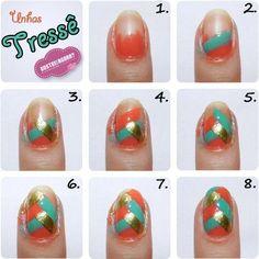 DIY easy braided nails