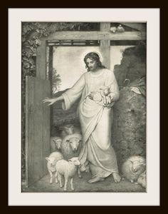 JESUS CHRIST - Late 1800's Bible Illustration Book Page by KnickofTime