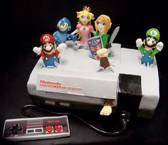geek, stuff, food, nintendo cake, video games, super mario, groom cake, nes, birthday cakes