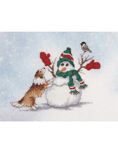 Mitten Games Cross Stitch Snowman Pattern