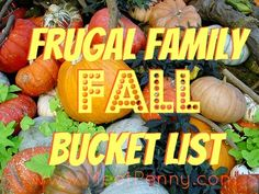 Frugal family fall bucket list