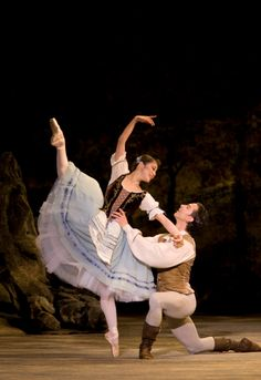 Birmingham Royal Ballet - Giselle: Nao Sakuma as Giselle and Matthew Lawrence as Albrecht; photo: Bill Cooper