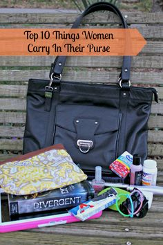 Top 10 Things Women Carry In Their Purse and a Buxton large leather Horseshoe Lock Tote Handbag Giveaway!  Ends 5/1
