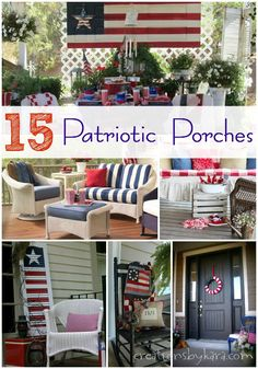 15 Patriotic Porches patriotic porch, patriot porch