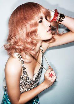 rose, hair colors, red hair, hair designs, peach