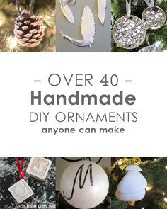 40+ Handmade Ornament Ideas to Make this Holiday