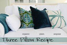 Three Pillow Recipe from Bower Power #landgathome