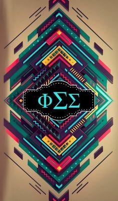 Phi Sigma Sigma iPhone monogram background!!